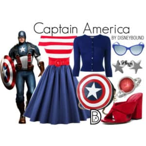 DisneyBound Kapitan Ameryka Avengers