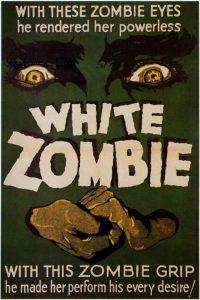 """Hipnotyczne oczy Beli Lugosiego na plakacie filmu """"Białe zombie"""""""