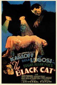 Plakat promujący pierwszy wspólny film Lugosiego i Karloffa