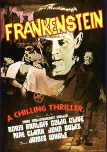 "Boris Karloff na plakacie filmu ""Frankenstein"""
