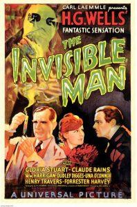 Niewidzialny Człowiek widoczny na plakacie promującym film