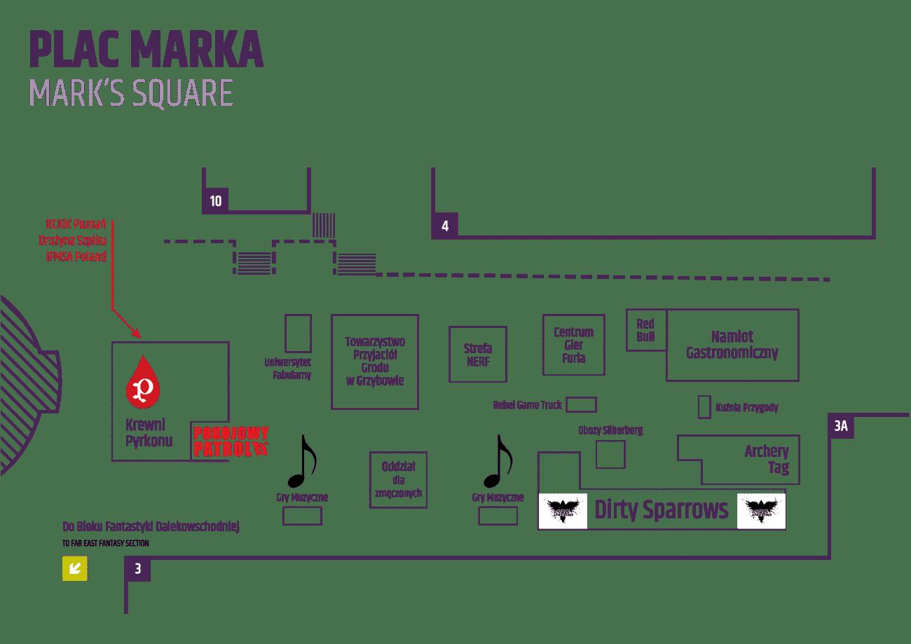 Lista Wystawców: Mapa Placu Marka - Pyrkon 2018