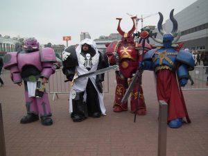 cosplay, pyrkon, fantasium creatium, warhammer 40 000, wh40k, space marines, chaos space marines, tzeentch, khorne, heresy, dark angels