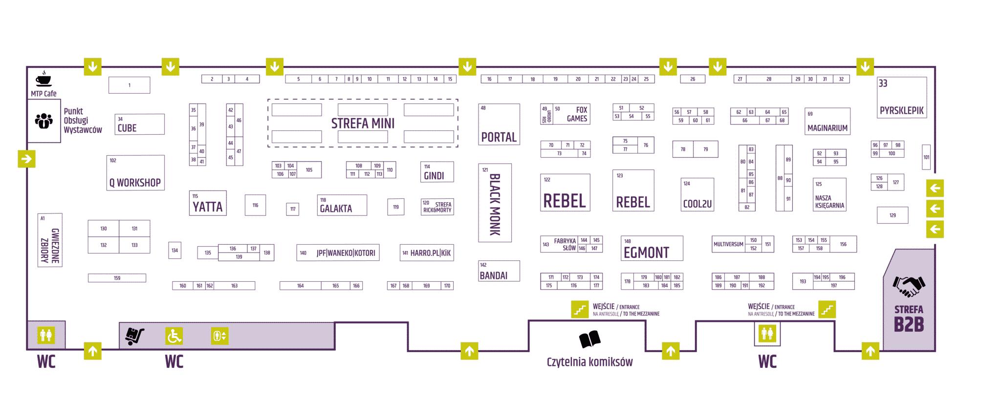 Lista Wystawców: Mapa Krainy Wystawców - Pawilonu 5 Pyrkon 2019