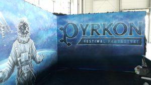 pracownia malarstwa artystycznego, mural pyrkon, Pyrkon 2019, Festiwal Fantastyki Pyrkon