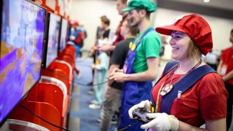 Stoisko Nintendo Pyrkon Blok Gier Elektronicznych