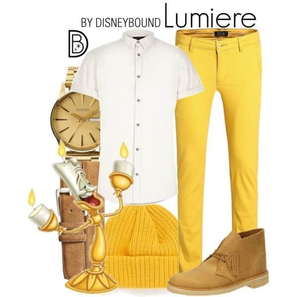 Lumiere Disneybound Pyron Piekna i Bestia