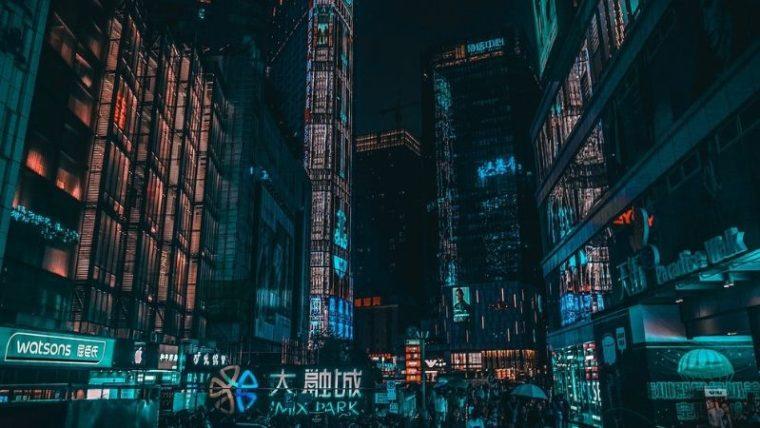 cyberpunk, miasto,