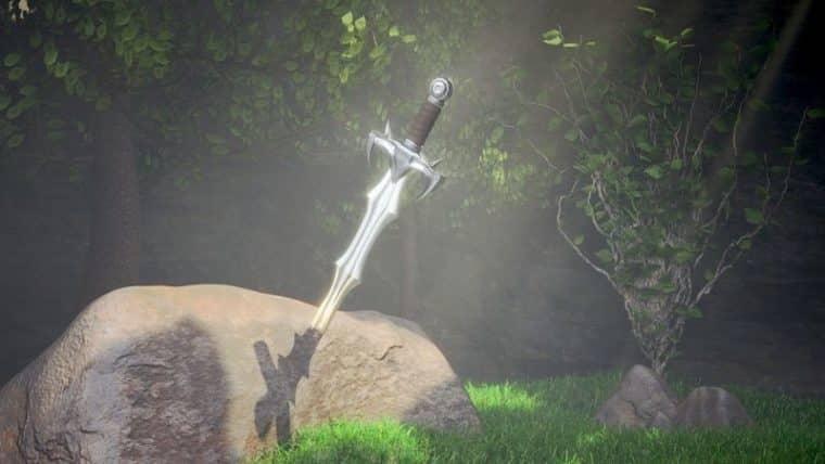 miecz w kamieniu